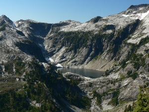 Upper Thornton Lake Cirque, N Cascades Natl Park USA